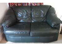 2-seater leather settee