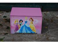Storage Bench Chest Wood Cabinet Organizer Disney Princes Wood Furniture Ottoman