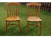 Two kitchen chairs