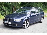 """Audi A4 1.9TDI S Line PD 130bhp 2004 6 Speed 2 Owners Full Service Xenon Bose 17"""" Alloys"""