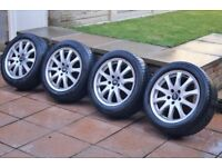 "17"" Audi S Line Sport Alloys Wheels & Tyres M+S 225/50/17 Winter 5x112 VW Skoda Seat Ford T4"