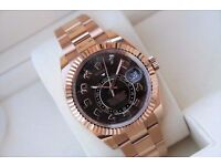 Rolex Sky Dweller Rose Gold Chocolate Dial SW2836