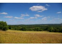 Large Buildable land, SW France (Lot), panoramic view south facing