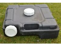Caravan low profile waste water tank
