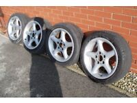 Bmw 3 series 17 inch alloys and 225/45/17 tyres