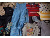 Bundle of clothes for boy 12-24 months.