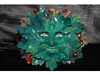 HAND MADE AND HAND PAINTED GREEN MAN.