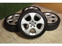 "Genuine VW Golf GTi Denver / Monza 17"" Alloy wheels 5x112 Caddy Passat Audi A3 A4 Alloys"