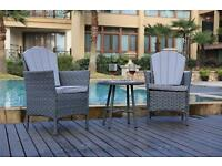 Yakoe Eton Range Bistro Set Garden Furniture Patio Sofa Chairs and Round Coffee Table