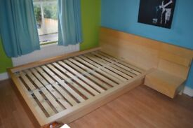 Ikea 'Malm' Double Bed Frame - For Sale