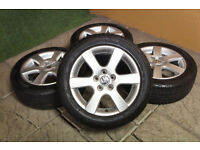 "Genuine Volkswagen Polo 15"" Charade Alloy wheels 5x100 VW Seat Ibiza Skoda Fabia 9N Alloys"
