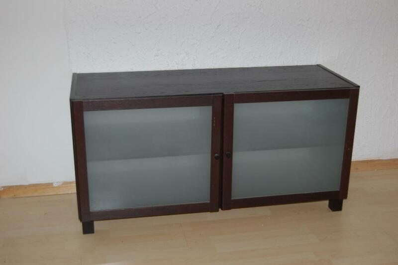 ikea tv bank schwarzbraun b 120cm h 60cm t 45cm in nordrhein westfalen witten ebay kleinanzeigen. Black Bedroom Furniture Sets. Home Design Ideas