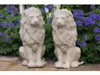 A great pair of large stone lions