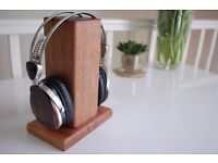 Wireless/ Wired Solid Wood Headphone Stand
