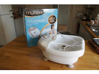 HoMedics MySpa Complete Pedicure Foot Spa Bubble Massager