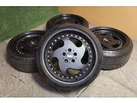 "Genuine Staggered MAM MT1 17"" Alloy wheels 5x100 VW Golf MK4 Seat Leon Audi A3 Beetle Bora TT Alloys"