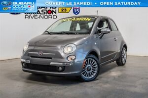 Fiat 500 lounge cuir+toit.ouvrant+mags 2012