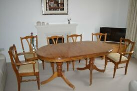 Dining Table and 6 Chairs (Ducal Pine)