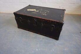 Vintage Travel trunk Case - Large
