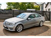 2012 C220 AMG SPORT FULL MB HISTORY 2 KEYS - PALLADIUM SILVER FULL LEATHER NOT 320D PASSAT