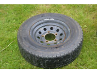 Yokohama Geolandar AT Tyres on Steel Wheels x3- 235 70 16. Removed from LandRover Discovery 1.