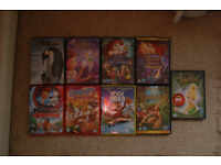5 Disney DVD's plus 4 other kids movies.