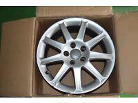 "4 x Used Audi A6 alloy wheels 17 "" + 4 x audi centre caps"
