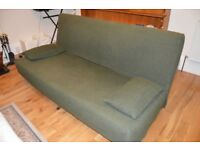 Large green sofa bed