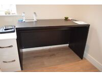 Ikea Malm Desk - black-brown - excellent condition - selling due to move abroad