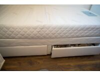 SINGLE BED WITH STORAGE IMMACULATE CONDITION FULL MEMMORY FOAM