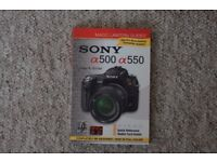 sony a500 / a550 book