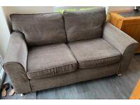 Next mocha oversized 2 two seater sofa settee