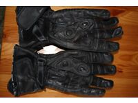 Richa Leather Motorcycle Gloves - Mens L
