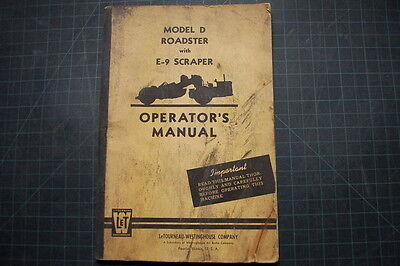 Letourneau E9 Scraper Operation Maintenance Manual Operator Guide Owner Book Oem