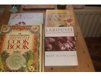 Cookery books, Larousse Gastrominique , 2 Good Houeskeeping & Delias happy Christmas