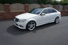 2009 MERCEDES BENZ C200 CDI AMG SPORT 61K FSH WHITE PANORAMIC ROOF AUTOMATIC