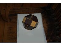 Vintage original 1980's Rubik snake cream and brown