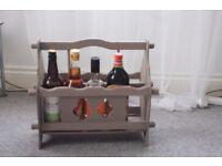 Rustic bottle rack