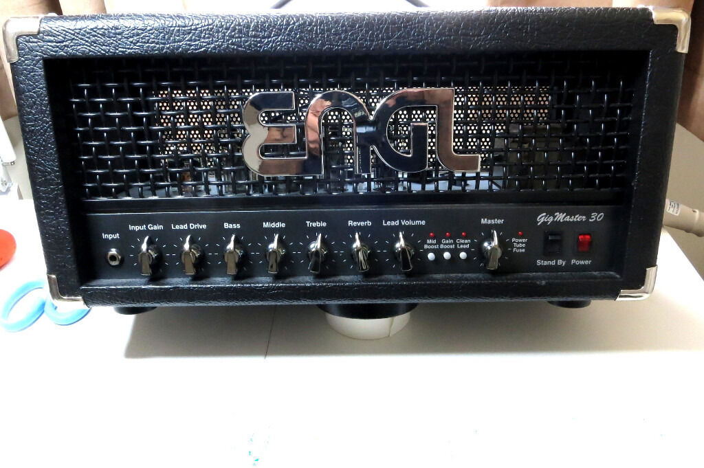 ENGL GIGMASTER 30 HEAD E305 GUITAR VALVE TUBE AMPLIFIER AMP with footswitches