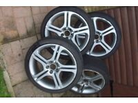 "17"" Seat Ibiza Cupra alloys withToyo proxes TR1 tyres"