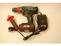 Parkside 20V Cordless 3-in-1 Impact Drill Driver with 2Ah battery and charger