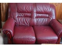 REDUCED - BARGAIN 2 x 2 seater quality leather sofas