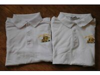 "Robert Gordons College - Two boys Polo shirts, size 32"""
