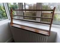 Ercol wall plate rack shelf unit