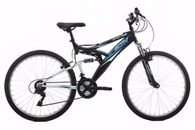 Activ by Raleigh Spectre Men's Dual Suspension Mountain Bike - Black 18 inch AND gel seat cover