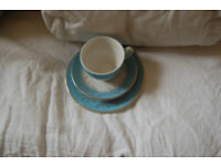 Vintage Blue Riband light blue and white 6 cups saucers and plates