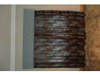 Professionally made curtains & pelmet
