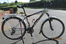 Cube Analog Mountain bike little used. .Shimano deore, 8 speed, triple chain set,adjustable stem£170