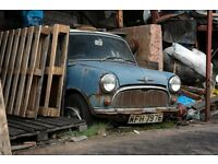 TRY ME FIRST! Rusty rotten damaged salvage classic mini project donor car wanted