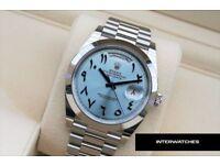 Rolex 228206 Day Date Arabic Dial Edition Platinum
